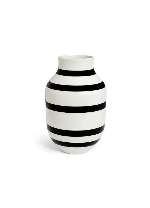 Kähler - Omaggio Vase Black - Large (11679)