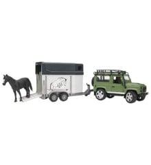 Bruder - LandRover Defender med Hestetrailer (2592)