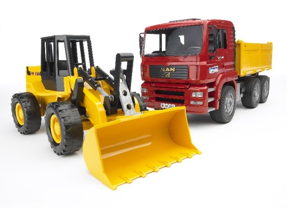 Bruder - MAN TGA Construction Truck And Articulated Loader (2752)