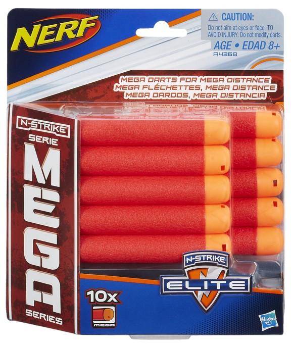 NERF - N-Strike Refill Mega 10 Darts (A4368)
