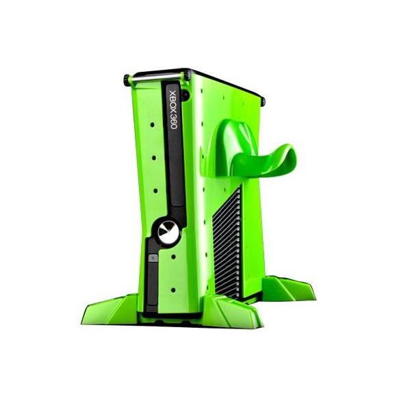 XBOX 360 Slim ** VAULT ** - Nuclear Green