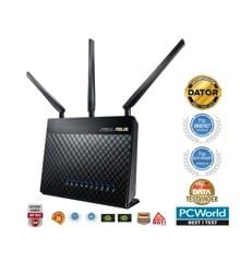 Asus - RT-AC68U Dual-Band Wireless 1900Mbps Router