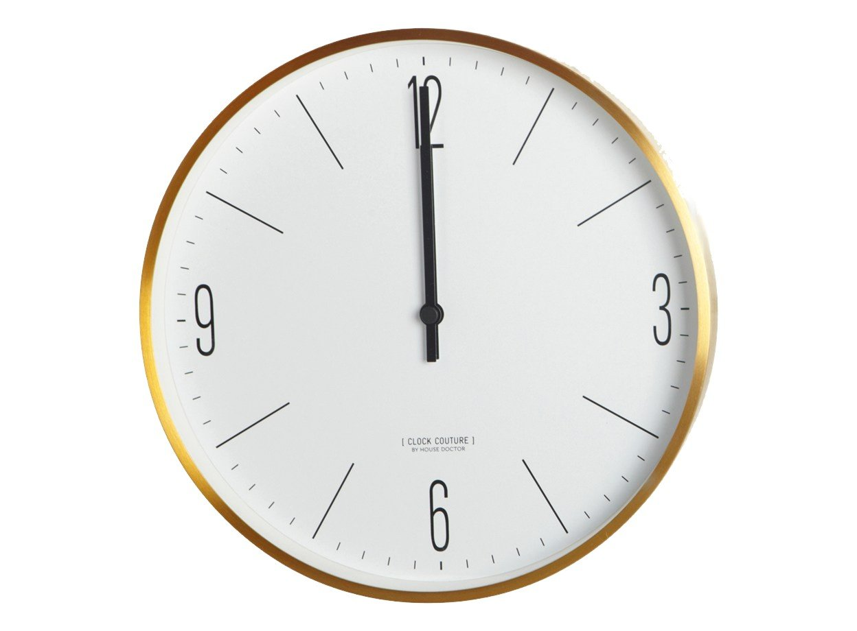 House Doctor - Wall Clock Couture - Gold/Copper