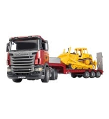 Bruder - Scania R-Series Low Loader Truck w. bobcat (3555)
