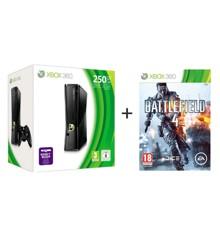 Xbox 360 Slimline Console 250GB + Battlefield 4 Nordic Bundle