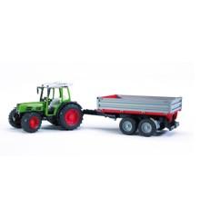 Bruder - Fendt 209S Traktor med trailer
