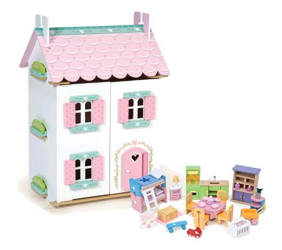 Le Toy Van - Dukkehus med møbler - Sweetheart Cottage (LH126 )