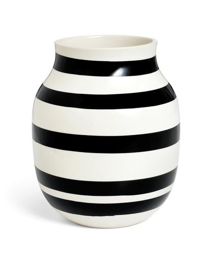 Kähler - Omaggio Vase Black - Medium (11962)