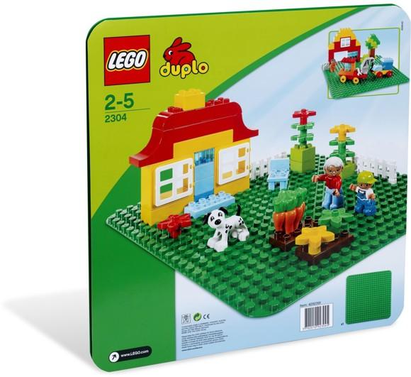 LEGO DUPLO - Stor, grønn byggeplate (2304)