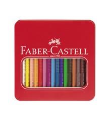 Faber-Castell - Jumbo Grip Farveblyanter i metalæske - 16 stk (110916)