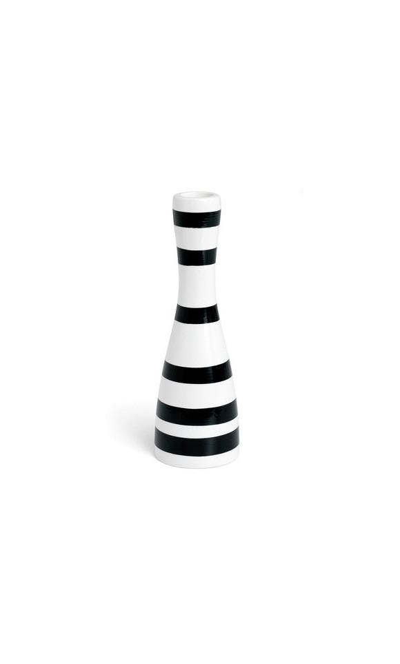 Kähler - Omaggio Candleholder Black - Medium (10091)
