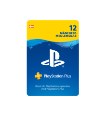PSN Plus Card 12m Subscription DK (PS3/PS4/Vita)