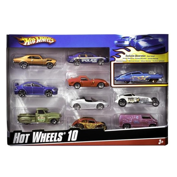 Hot Wheels - 10 Car Pack