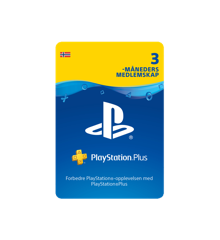 PSN Plus Card 3m Subscription NO (PS3/PS4/Vita)