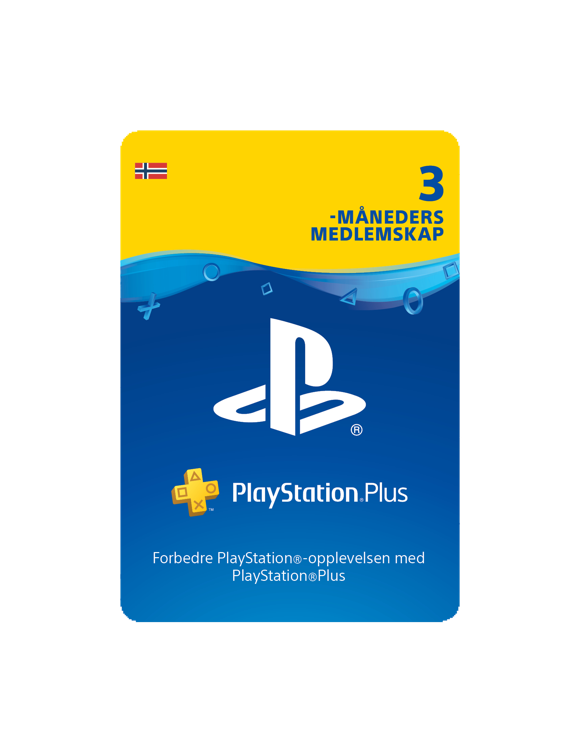 PSN Plus Card 3m Subscription NO (PS3/PS4/Vita)