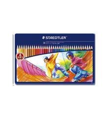 Staedtler - Noris Club - Farveblyanter i metalæske, 36 stk (145 SPM36)