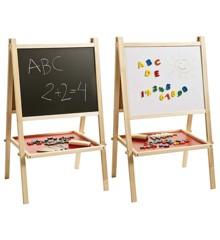 Staffeli med tavle og whiteboard - 91 cm