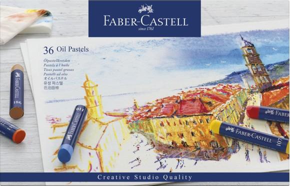 Faber-Castell - Oliekridt STUDIO QUALITY, metalæske med 36 stk (127036)