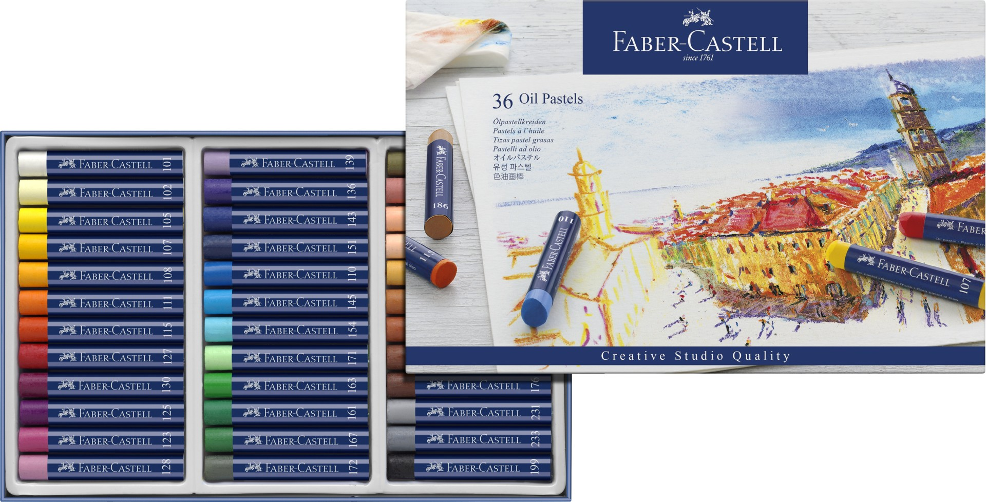 buy fabercastell  oil pastel crayons studio quality box