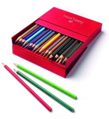 Faber-Castell - Grip 2001 Water Soluble Colour Pencils in Studio Box, 36 pc (112436)