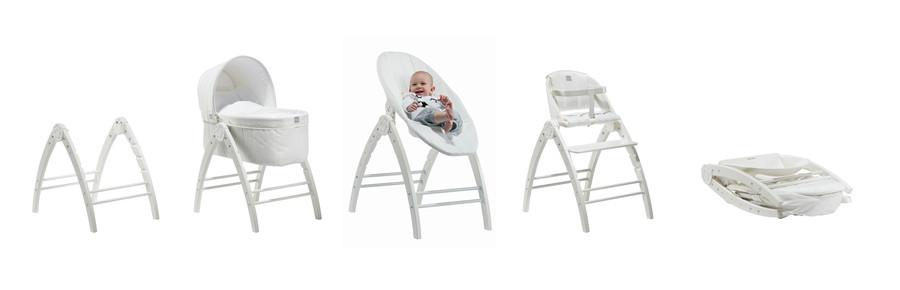 Køb Baby Dan Angel Vugge, skråstol, højstol Hvid (2651
