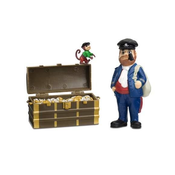 Pippi Figurer - Efraim, Hr Nilsson og skattekiste (44371200)