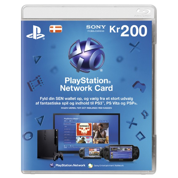 Playstation Network Card 200 Kroner (Code via email) (PS3/PS4/Vita) /PS3 DOWNLOAD