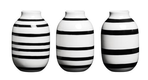 Kähler - Omaggio drei Miniatur Vasen - Schwarz