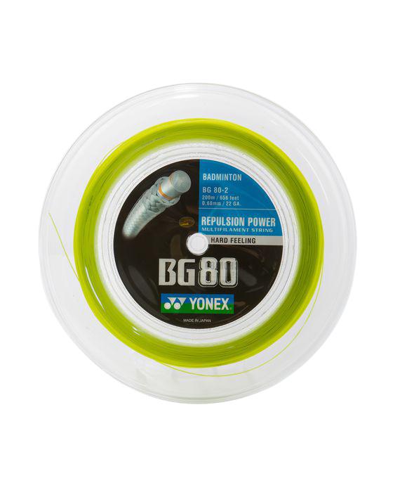 Yonex - BG 80 Badminton-Saiten - Gelb, 200 m