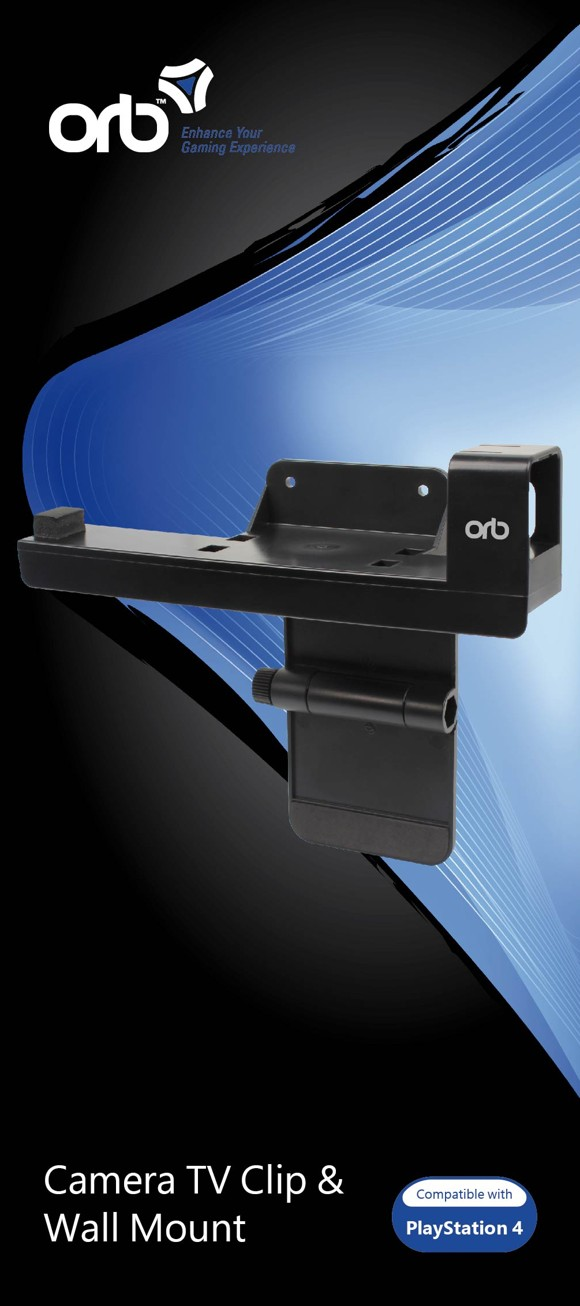 Camera TV Clip and Wall Mount (2 in 1)  (ORB)