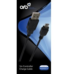 USB to Micro USB 3m Charge Cable (ORB)