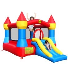 Bouncy Castle - Slot Hoppeborg med Rutchebane (9017)