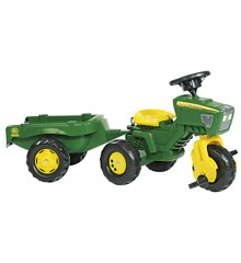 Rolly Toys - John Deere Trike with Sound Wheel and Trailer (052769)