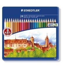 Staedtler - Noris Club - Farveblyanter i metalæske, 24 stk (145CM24)