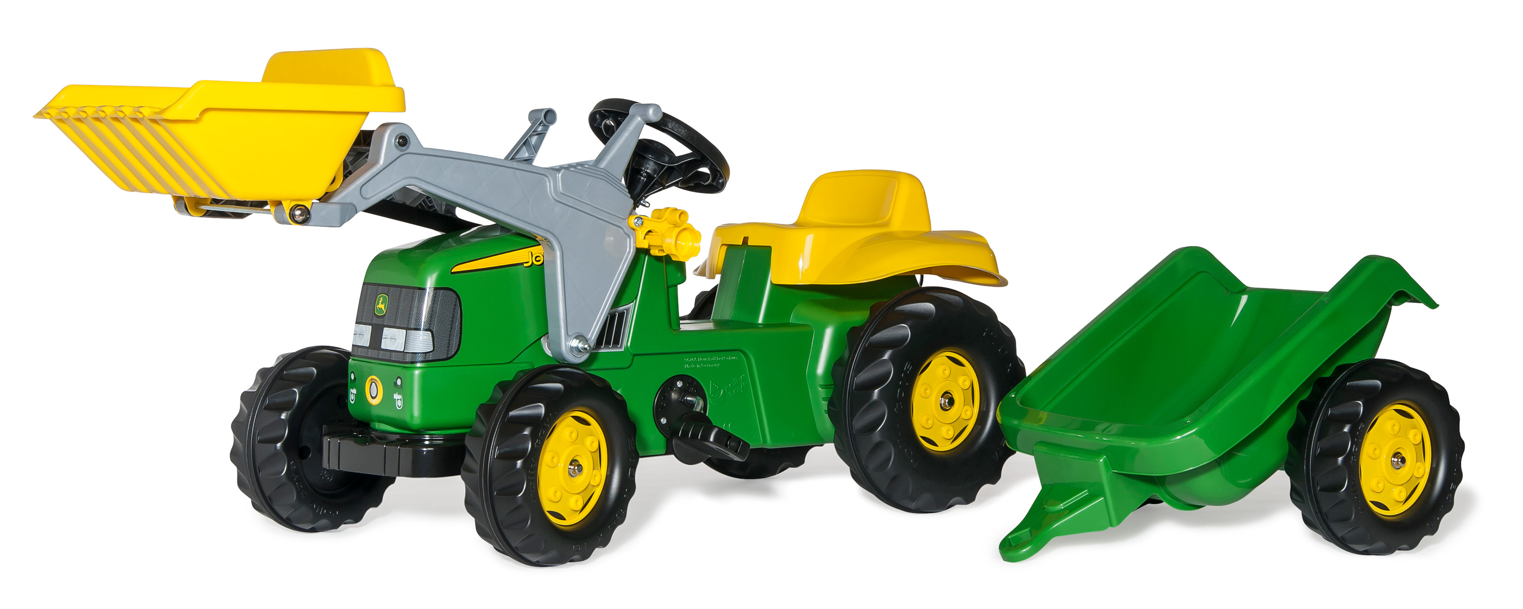Rolly Toys - John Dere Tractor Loader and Trailer  - Pedal ride-on (023110)